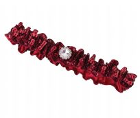 Red Sequin Wedding Garter
